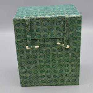 Asian Green Decorative Fabric Covered Storage Box